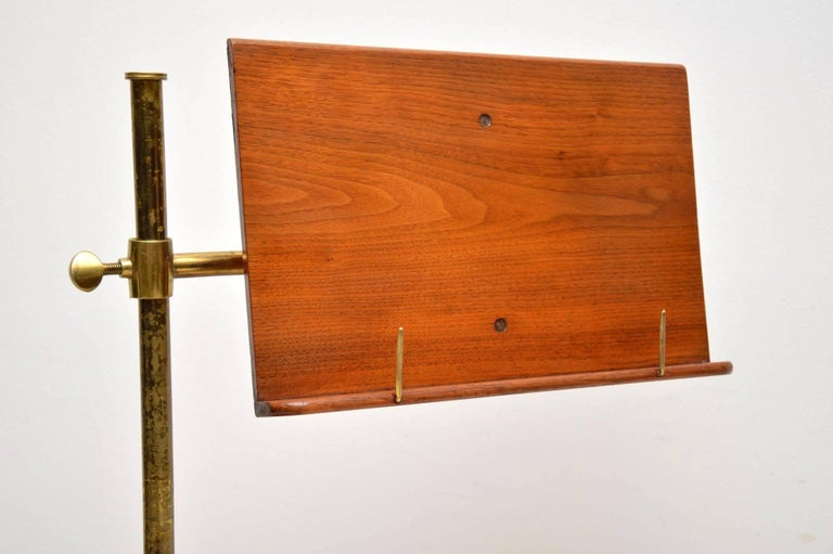 Antique Victorian Mahogany and Brass Reading Table For Sale 1