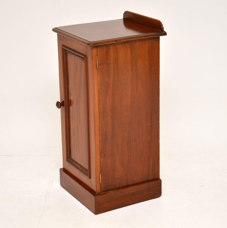 19th Century Antique Victorian Mahogany Bedside Cabinet For Sale