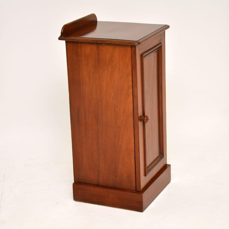 Antique Victorian Mahogany Bedside Cabinet For Sale 1