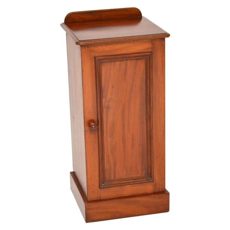 Antique Victorian Mahogany Bedside Cabinet For Sale