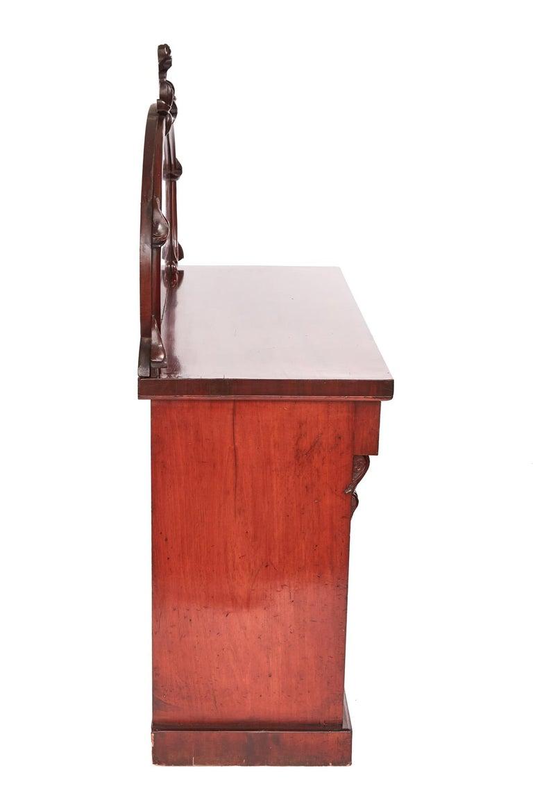 English Antique Victorian Mahogany Chiffonier For Sale