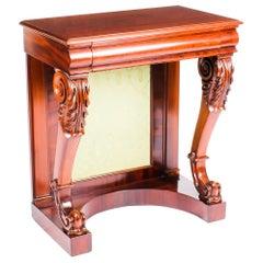 Antique Victorian Mahogany Console Hall Table, 19th Century