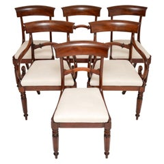 Antique Victorian Mahogany Dining Chairs