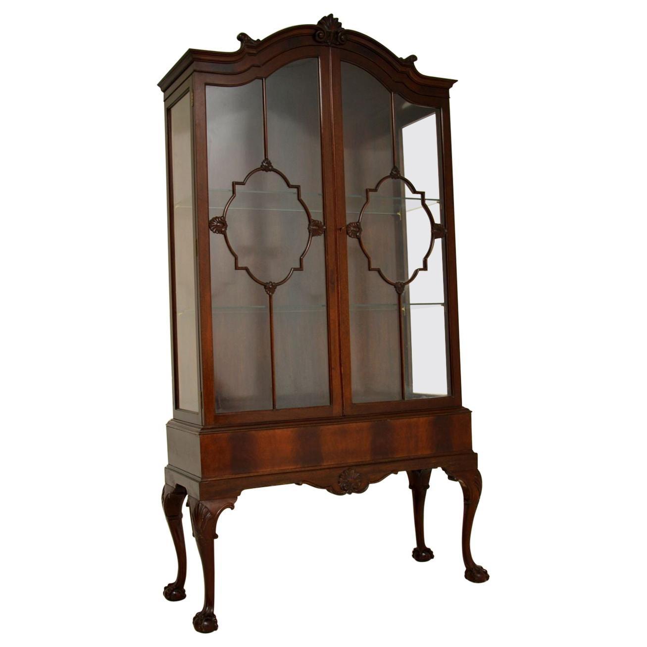 Antique Victorian Mahogany Display Cabinet