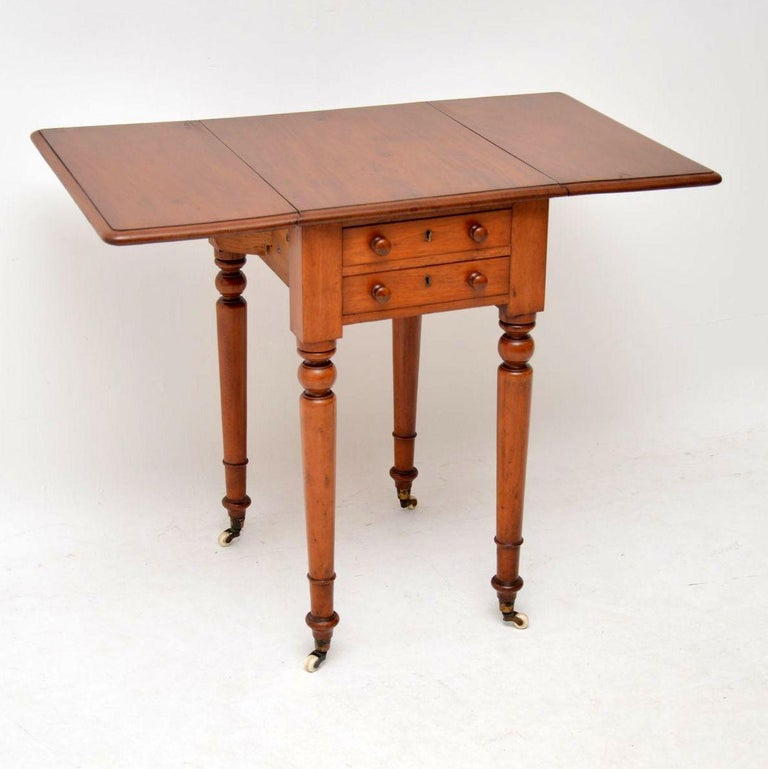 Antique Victorian Mahogany Drop Leaf Side Table At 1stdibs