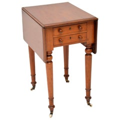 Antique Victorian Mahogany Drop Leaf Side Table
