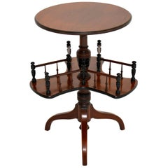 Antique Victorian Mahogany Occasional Table Bookstand