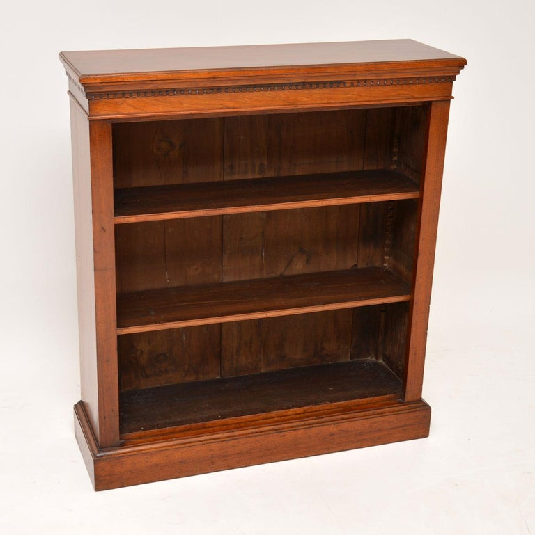English Antique Victorian Mahogany Open Bookcase
