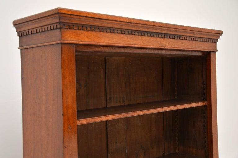 19th Century Antique Victorian Mahogany Open Bookcase