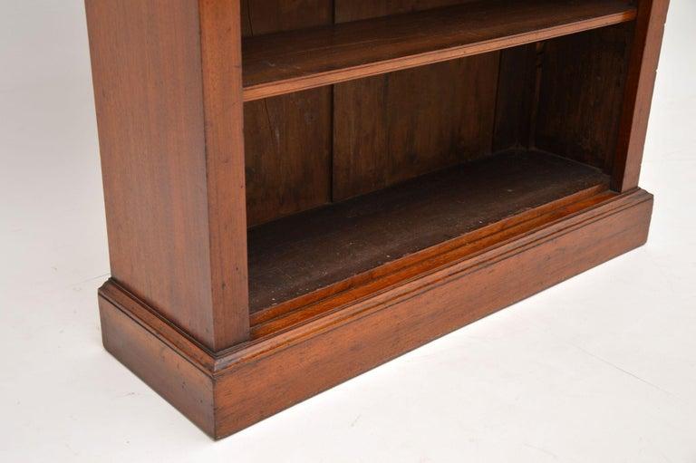 Antique Victorian Mahogany Open Bookcase 1