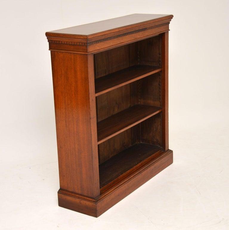 Antique Victorian Mahogany Open Bookcase 2