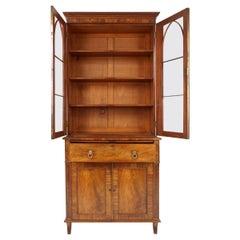 Antique Victorian Mahogany Secrétaire Bookcase, Scotland 1870, B1953