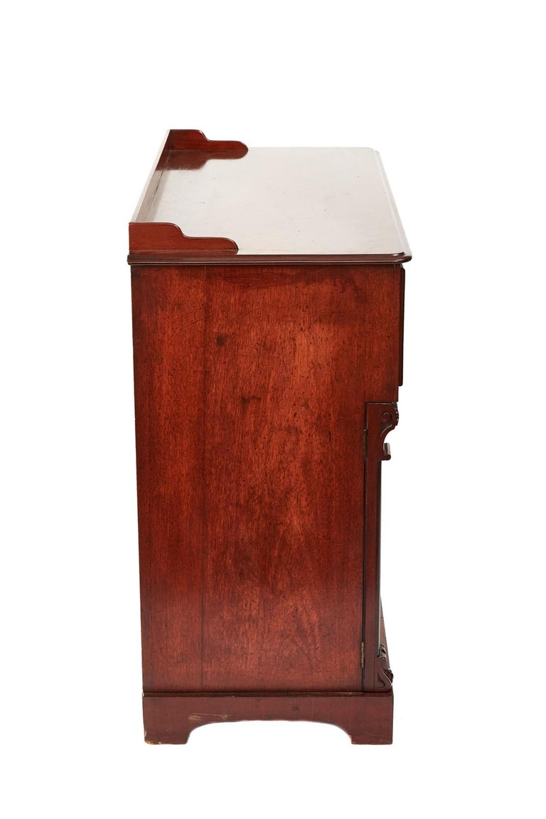 English Antique Victorian Mahogany Secrétaire with Cupboard Base For Sale