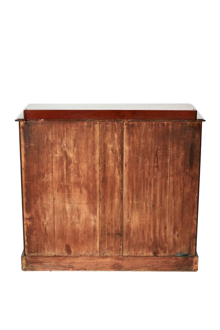 Antique Victorian Mahogany Secrétaire with Cupboard Base In Good Condition For Sale In Stutton, GB