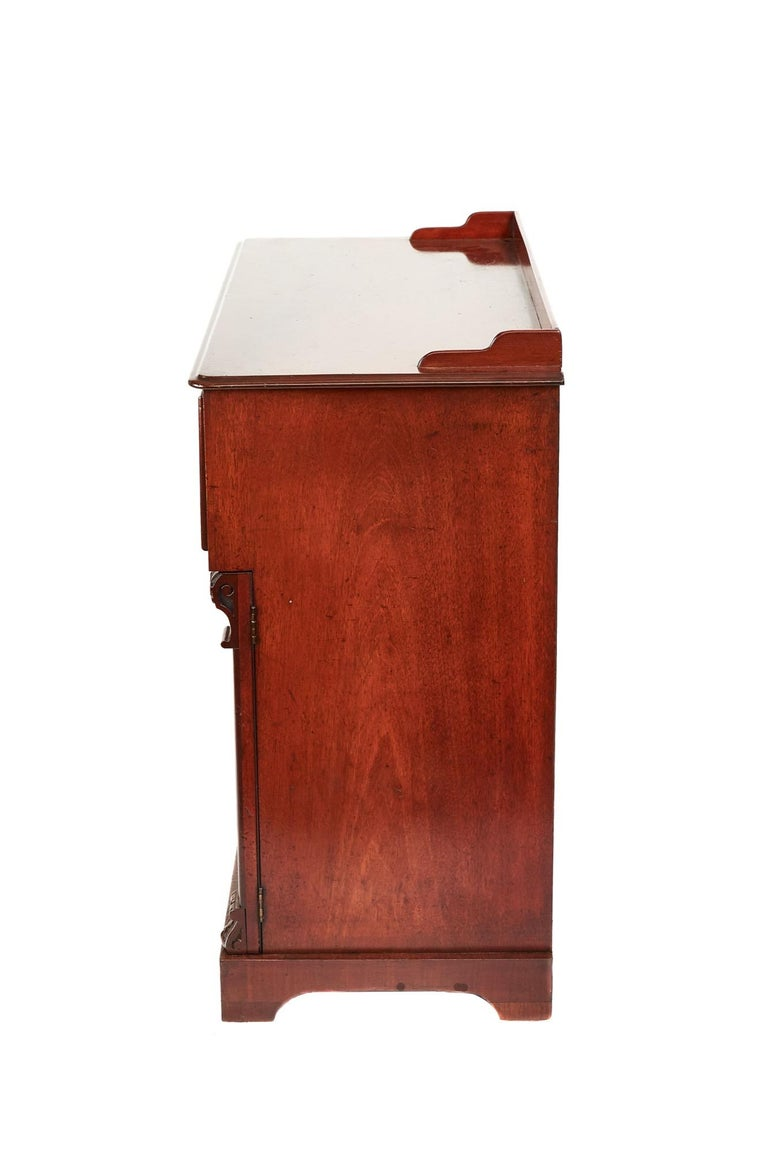 19th Century Antique Victorian Mahogany Secrétaire with Cupboard Base For Sale