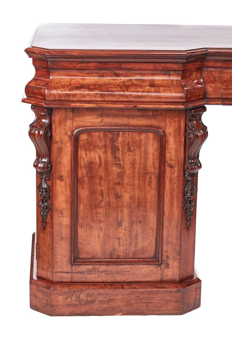 English Antique Victorian Mahogany Sideboard For Sale