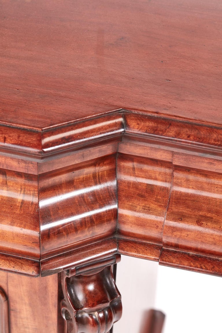 Antique Victorian Mahogany Sideboard For Sale 4