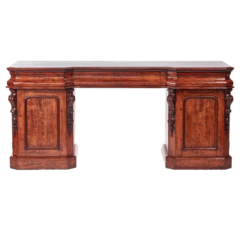 Antique Victorian Mahogany Sideboard For Sale
