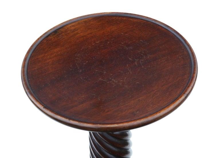 Antique Victorian Mahogany Torchère Jardinière Stand Pedestal Plant Table For Sale 2