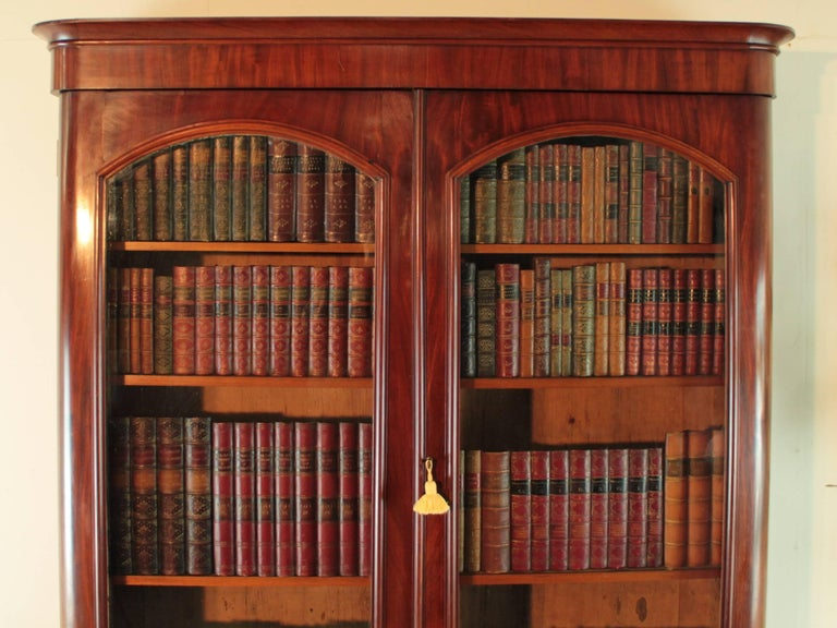 Antique Victorian Mahogany Two-Door Bookcase, English, circa 1870 In Good Condition For Sale In Glasgow, GB