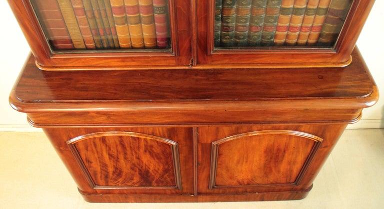 Antique Victorian Mahogany Two-Door Bookcase, English, circa 1870 For Sale 2
