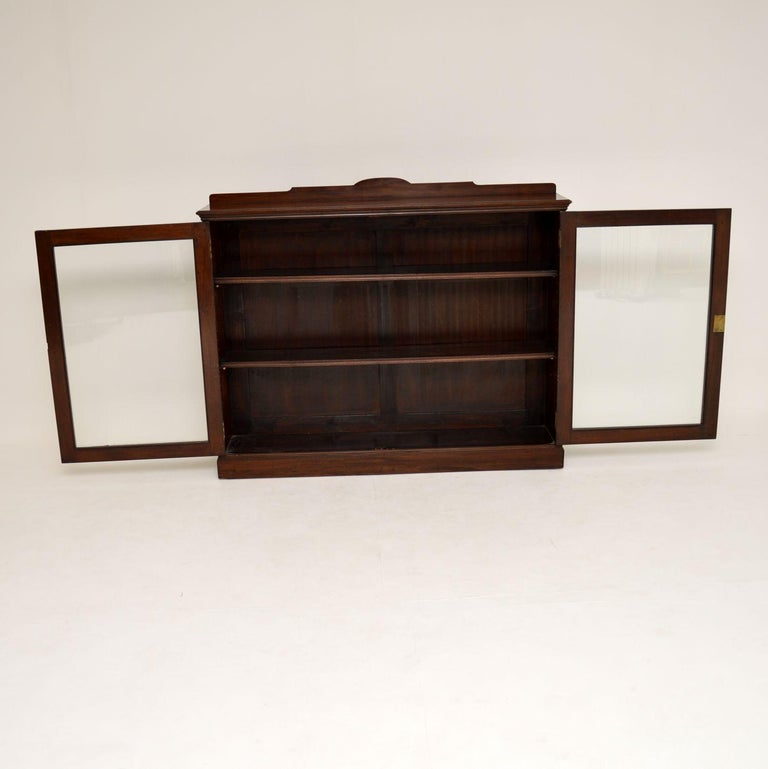 Late 19th Century Antique Victorian Mahogany Two-Door Bookcase