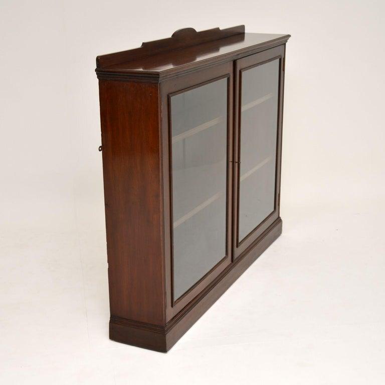 Antique Victorian Mahogany Two-Door Bookcase 2