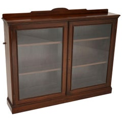 Antique Victorian Mahogany Two-Door Bookcase
