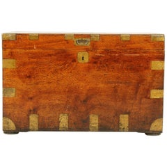 Antique Victorian Military Camphor Wood Travelling Trunk, Chest, 1880, B1950