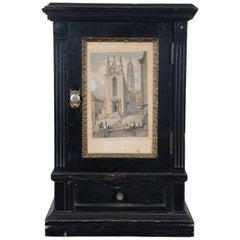 Antique Victorian Miniature Cabinet Cupboard Rauch Engraving Maria Stiegen