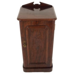 Antique Victorian Nightstand, Mahogany End/Lamp Table, Scotland 1880, B2252