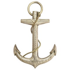Antique Victorian Oversized Anchor Brooch