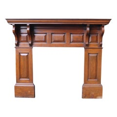 Antique Victorian Period Oak Fire Surround