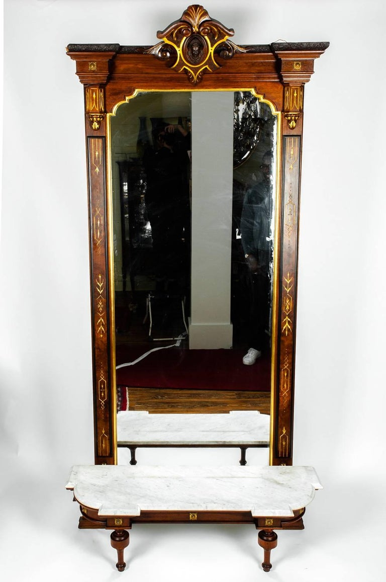 Antique Victorian Pier Mirror For Sale At 1stdibs
