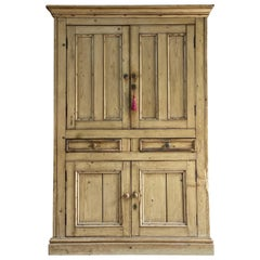 Antique Victorian Pine Houskeepers Cupboard, 19th Century, circa 1890