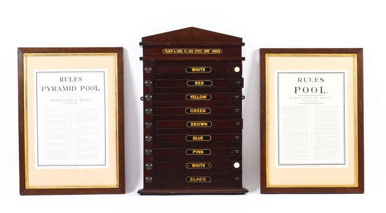 Antique Victorian Pool Scoreboard and 2 Prints Palmer & Sons-Joe Davis For Sale 6