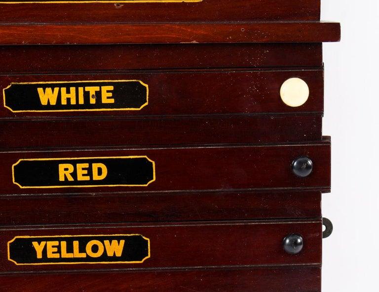Antique Victorian Pool Scoreboard and 2 Prints Palmer & Sons-Joe Davis For Sale 2