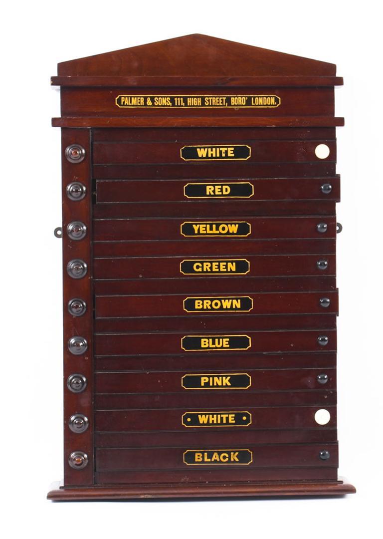 Antique Victorian Pool Scoreboard and 2 Prints Palmer & Sons-Joe Davis For Sale 3