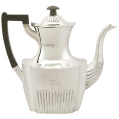 Antique Victorian Queen Anne Style Sterling Silver Coffee Pot