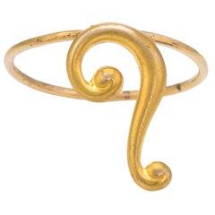 Antique Victorian Question Mark Ring Conversion 10 Karat Gold Vintage Jewelry
