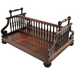 Antique Victorian Regency Book Holder Desk Tray