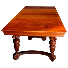 Antique Victorian R.J. Horner School Oak Dining and Banquet Table with 8 Leaves