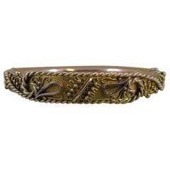 Antique Victorian Rose Gold Bangle, circa 1900, Hallmarked Chester Assay Office