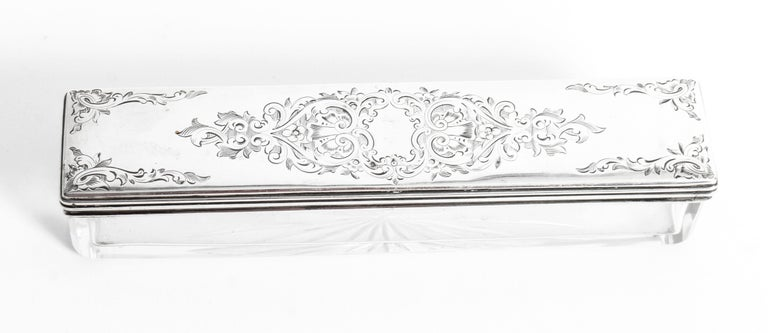Victorian Rosewood & Sterling Silver Travelling Dressing Case 1861, 19th Century For Sale 6