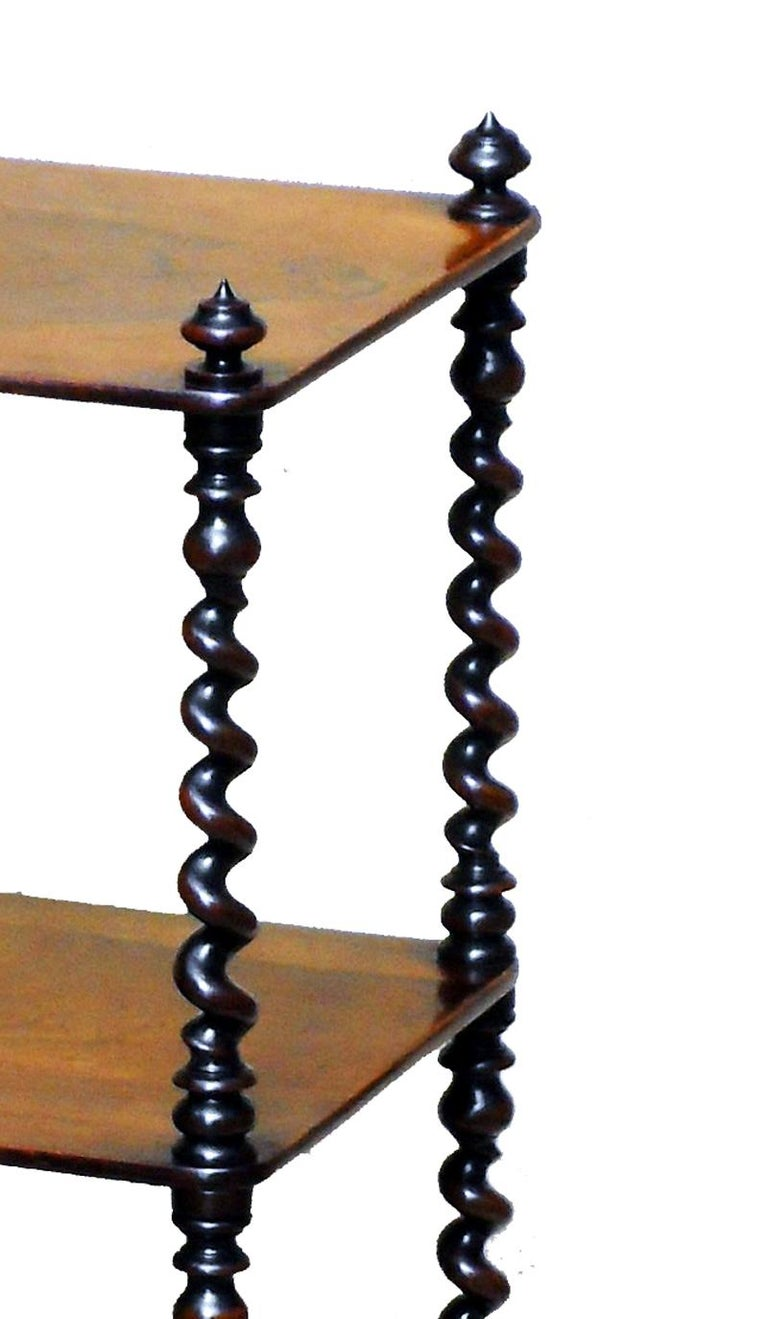 Victorian 19th Century English Rosewood Whatnot  For Sale
