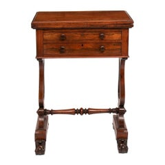 Antique Victorian Rosewood Work Table, c.1860