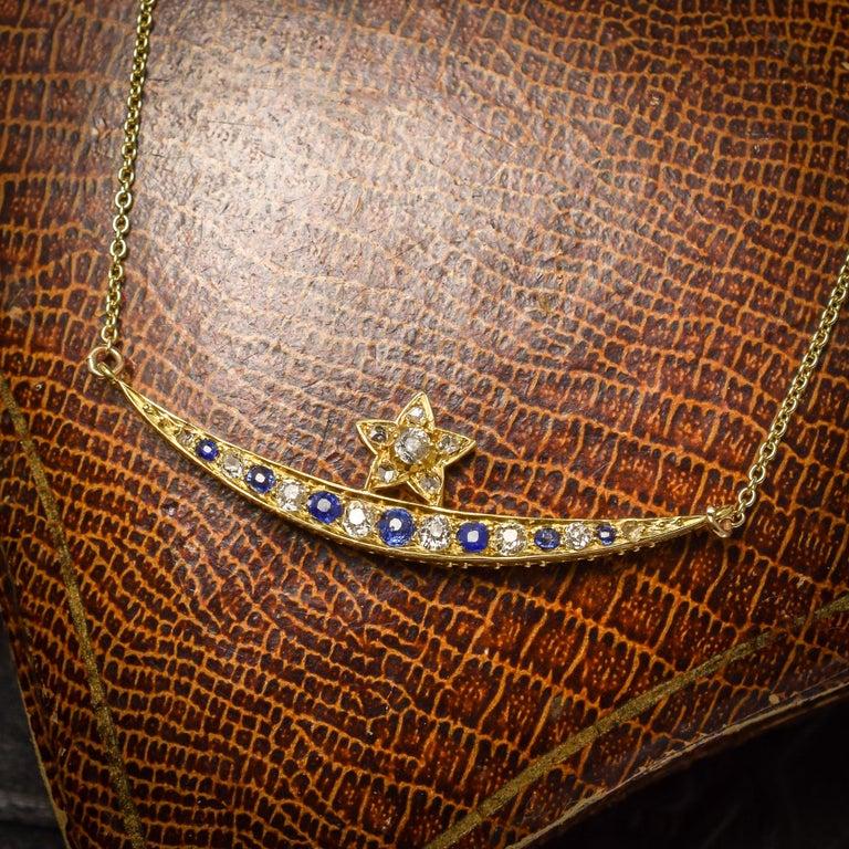 Women's or Men's Antique Victorian Sapphire Diamond