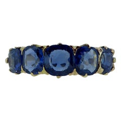 Antique Victorian Sapphire Ring, Yellow Gold