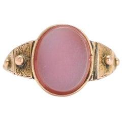 Antique Victorian Sardonyx Rosary Poison Ring