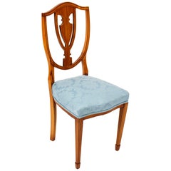 Antique Victorian Satinwood Shied Back Desk Chair, 19th Century